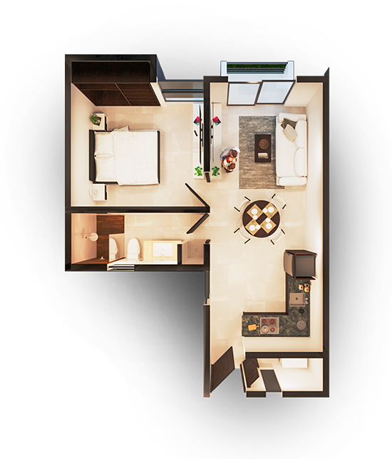 Apartamento Modelo A MAGNUS Cholul